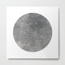 concrete disk Metal Print