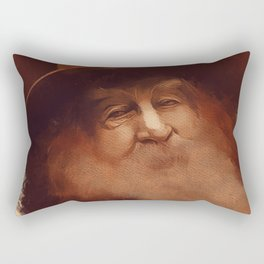 Walt Whitman, Literary Legend Rectangular Pillow