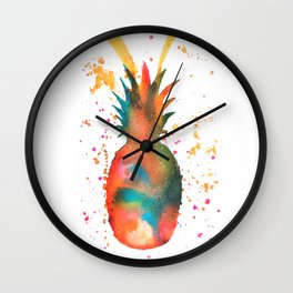 Pineapple Splash Wall Clock
