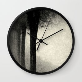 Twins in the Forest Wall Clock