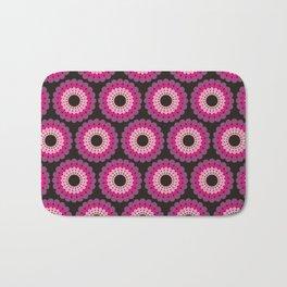 Purple pink circled polka dots Bath Mat