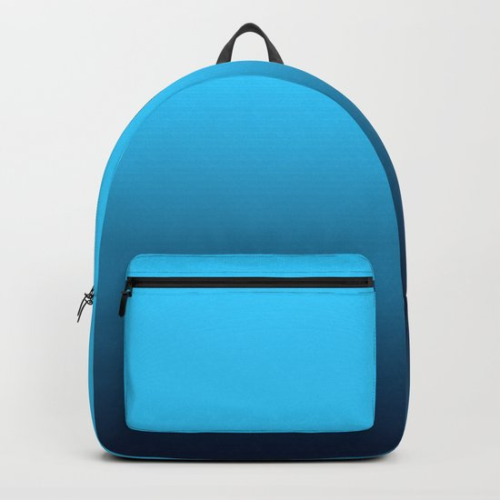 Simply fresh teal blue color gradient - Mix and Match with Simplicity of Life Backpack