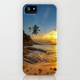 rocks and palms iPhone Case