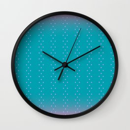 Cherry Blossoms in Winter Wall Clock