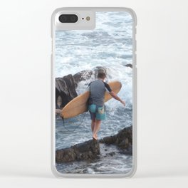 Treading Carefully Clear iPhone Case