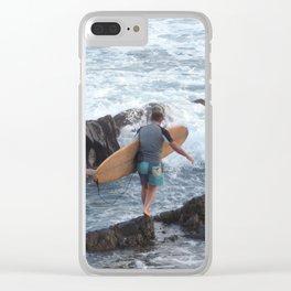 Treading Carefully Clear iPhone Case