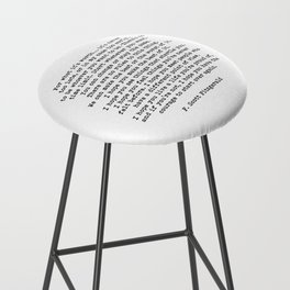 Life quote, For what it's worth, F. Scott Fitzgerald Quote Bar Stool