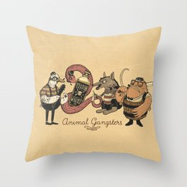 vintage characters Throw Pillow