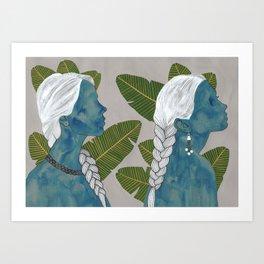 banana leaves Art Print