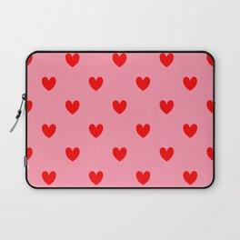 Red Heart Pattern Laptop Sleeve