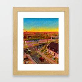 sunset in holland Framed Art Print