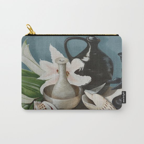 Kiwi fruit & Lillies Carry-All Pouch