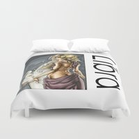 libra Duvet Covers featuring Libra by TammyWitzens