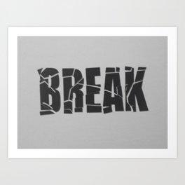 Broken Word Art Print