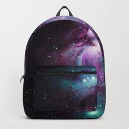 Orion Nebula Purple teal full Backpack