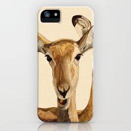 Impalas Watercolor iPhone Case