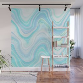 Cool Pastel Blue Lava Marble  #marble #society6 #abstractart Wall Mural
