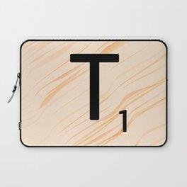Scrabble Letter T - Large Scrabble Tiles Laptop Sleeve