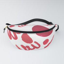 40   | 190408 Red Abstract Watercolour Fanny Pack
