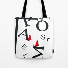 Abstract Shapes I Letters Tote Bag