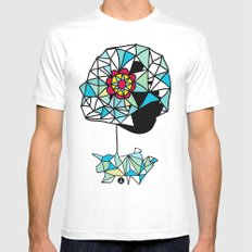 Float MEDIUM White Mens Fitted Tee