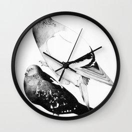 Pigeons 1 Wall Clock