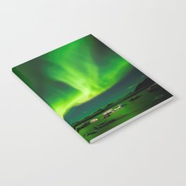 Northern Lights In Iceland Notebook