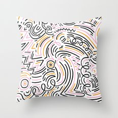 squiggle wiggles Throw Pillow