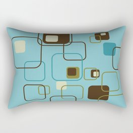 Mid-Century Modern Hep Cat (teal) Rectangular Pillow