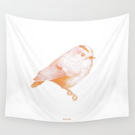 Goldcrest (Regulus regulus) - orange and yellow Wall Tapestry
