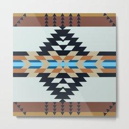 American Native Pattern No. 48 Metal Print