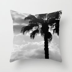 Palm Trees In Black And White Throw Pillow