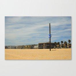 Tsunami Sign on Venice Beach Canvas Print