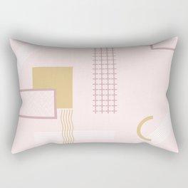 Light Pink Retro Abstract Rectangular Pillow