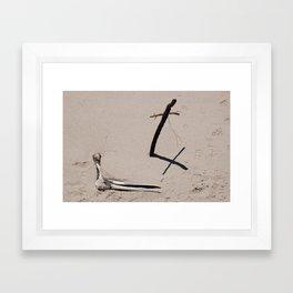 Beach Grave Framed Art Print
