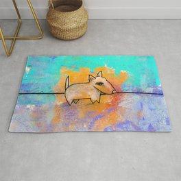 Dog No.1 by Kathy Morton Stanion Rug