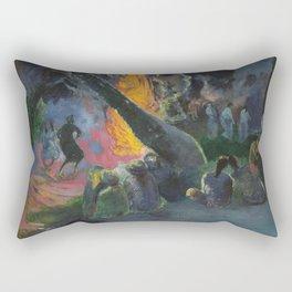 Upa Upa (The Fire Dance) by Paul Gauguin Rectangular Pillow