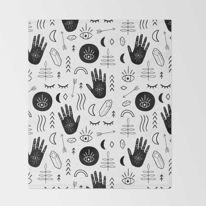 Witchy Patterns Throw Blanket