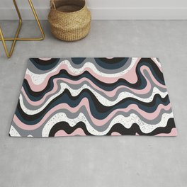 Dream Pink Abstract Rug