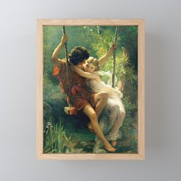Spring by Pierre Auguste Cot Framed Mini Art Print