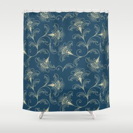 Dark Teal Elegance Shower Curtain