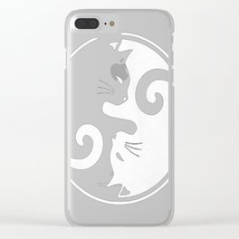 YIN YANG CAT Clear iPhone Case