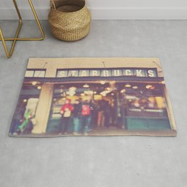 Seattle Starbucks photograph. A Star is Born Rug