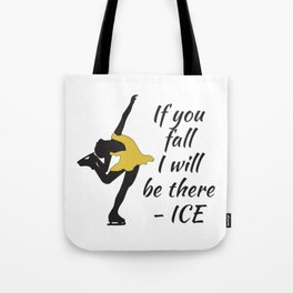 Beutiful and Charming Tshirt Design Ice Skater Tote Bag