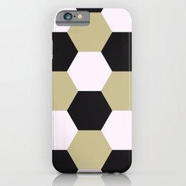 Hexagonal tile masonry iPhone Case