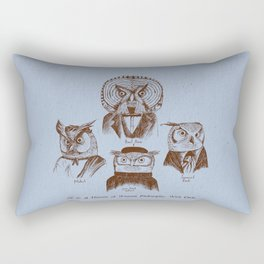 A History of Western Philosophy. With Owls. Rectangular Pillow