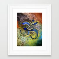 namaste Framed Art Prints featuring Namaste by Imperfections