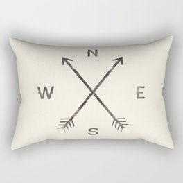 Compass (Natural) Rectangular Pillow