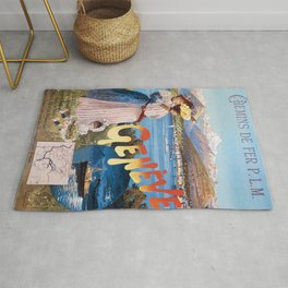 Old Sign / Geneve Affiche - Paris Rug
