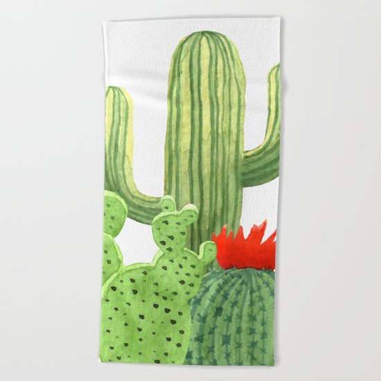 Perfect Cactus Bunch Beach Towel